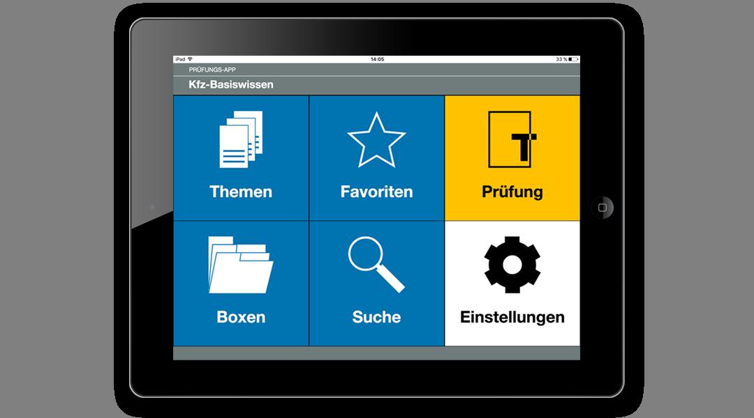Beispiel Lern-App: Startseite